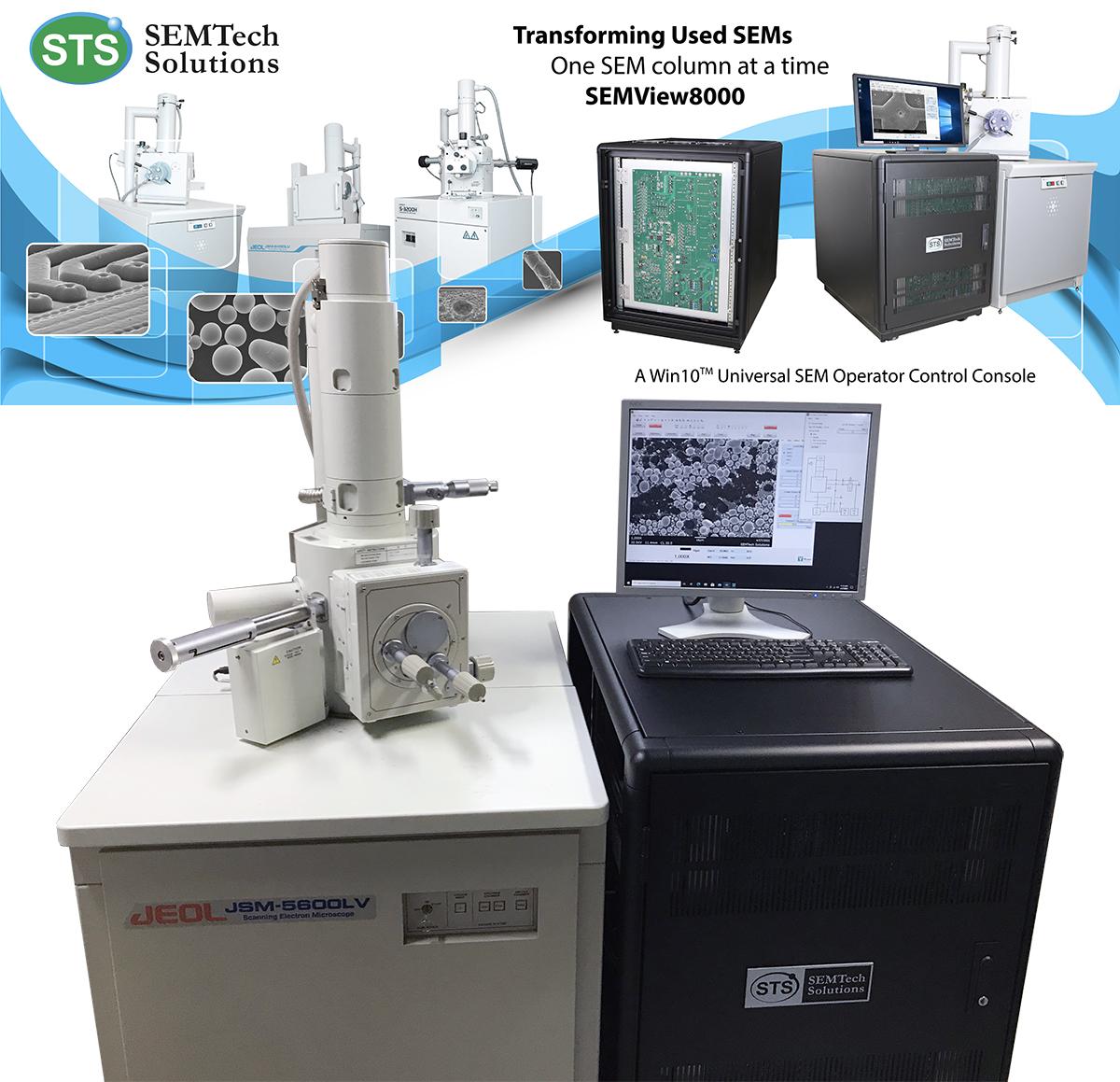 JEOL JSM-5600LV SEM with SEMTech Solutions' SEMView8000